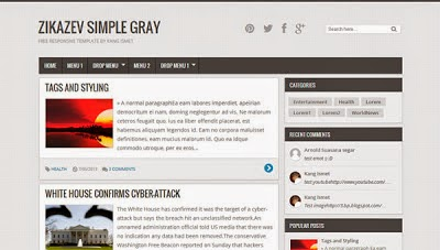 zikazev simple gray white blogger template 2014 for blogger or blogspot 2014 2015,simple blogger template,gray blog template,download blogspot theme 2014 2015,download free latest theme 2015