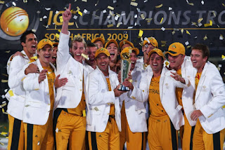 Team Australia with ICC champions trophy 2009