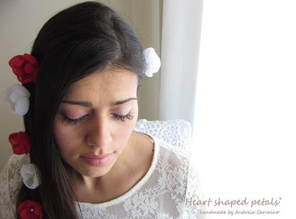 flores para cabelo de noiva