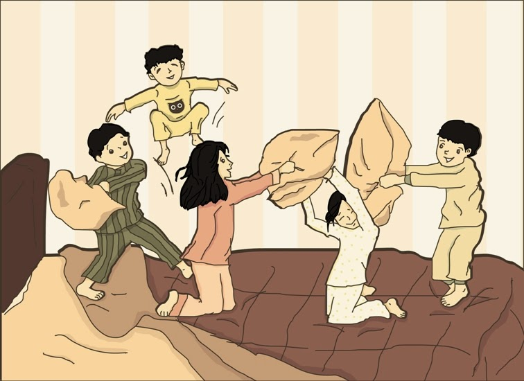 digital-children-art-pillow-fight