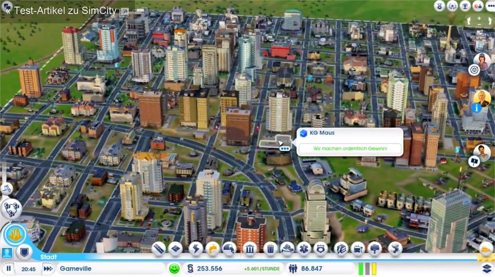 Sim-City Stadt