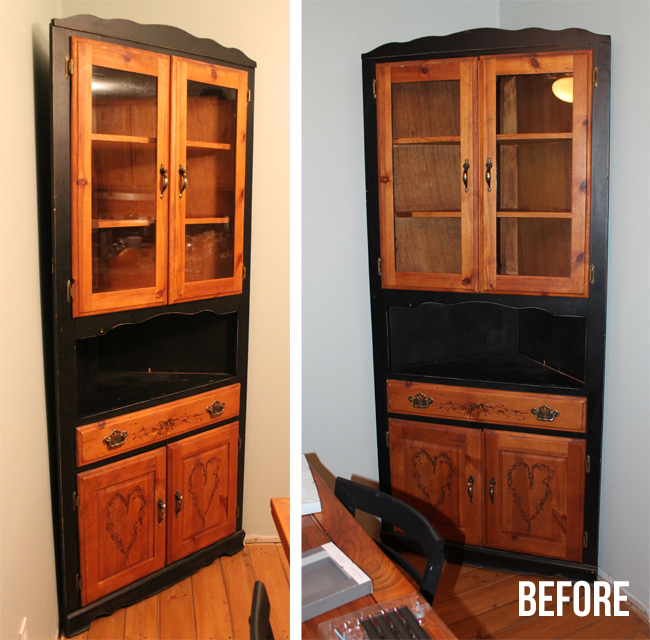 Corner Hutch Furniture Makeover