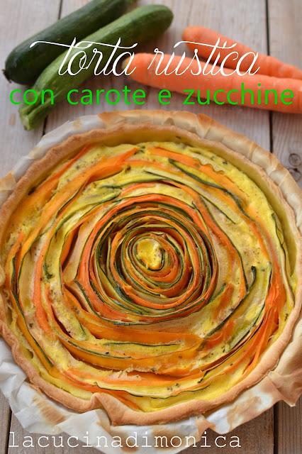 torta rustica con carote e zucchine