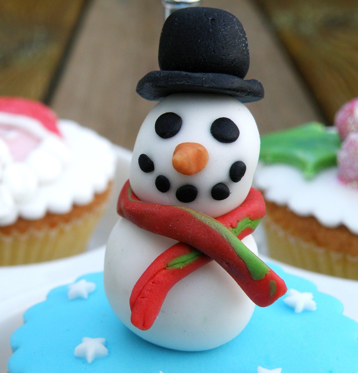 Kerst Cupcakes Sneeuwpop Snowman I Ellisnl