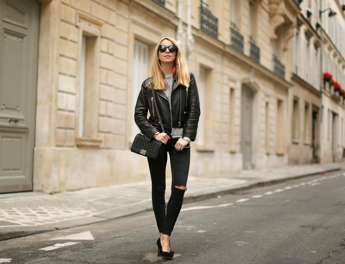 leather jacket, acne, alexander wang, chanel, grease, rock, fashion blogger, paris, isabel marant, streetstyle, outfit