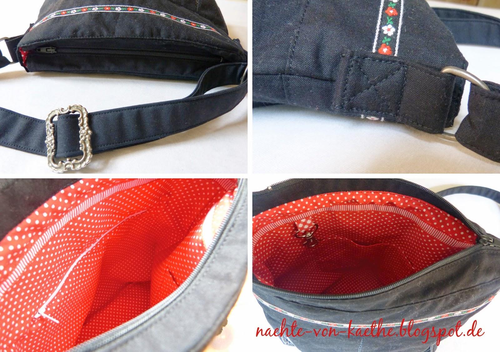 Pattydoo-Susi als Handtasche Detailansicht: Reßverschluss, angebrachter Henkel, Reißverschlussinnenfach