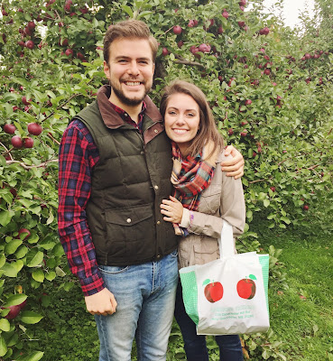fall, apple picking, couples