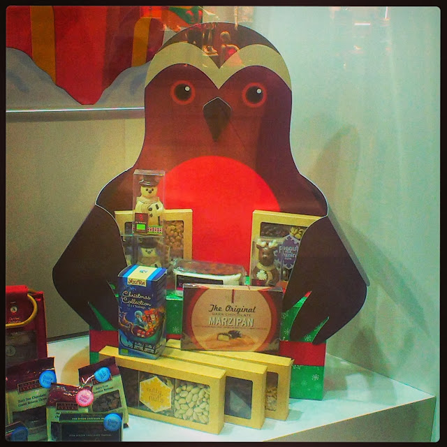 Bird hoarding sweet and chocolate boxes