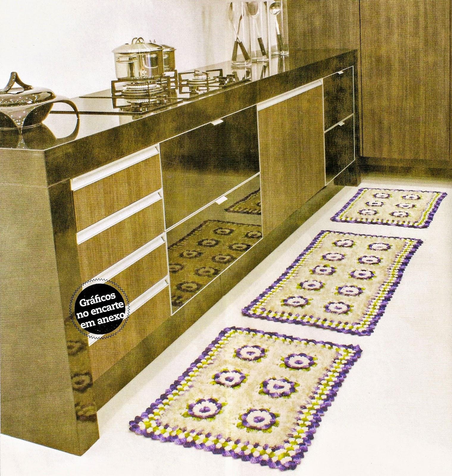 tapetes em croche copa cozinha sala quarto decoração em croche com receita
