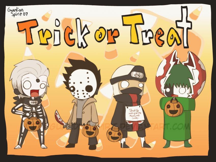 Pidiendo dulces en Halloween