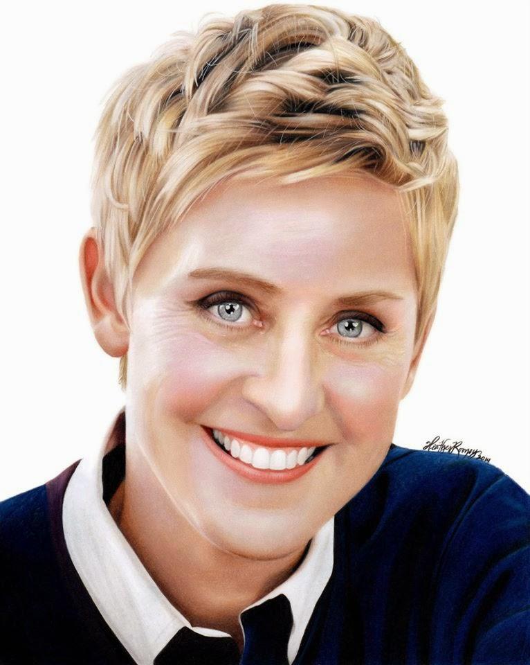 08-Ellen-DeGeneres-Heather-Rooney-Colored-Pencil-Drawings-of-Celebrities-www-designstack-co