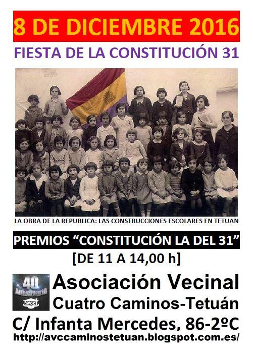 8 diciembre premios Constitución de 1931
