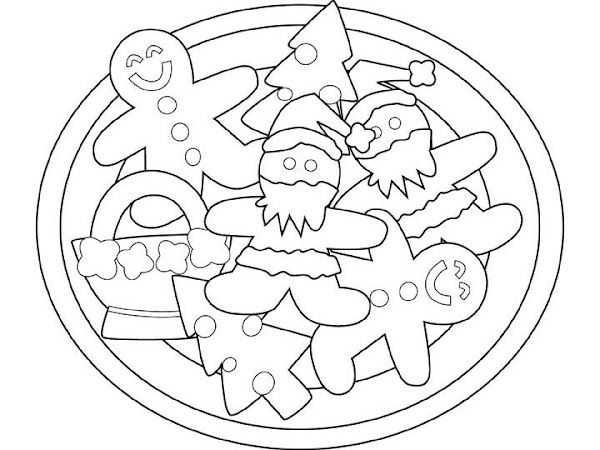 Christmas Gingerbread House Coloring Pages Printable