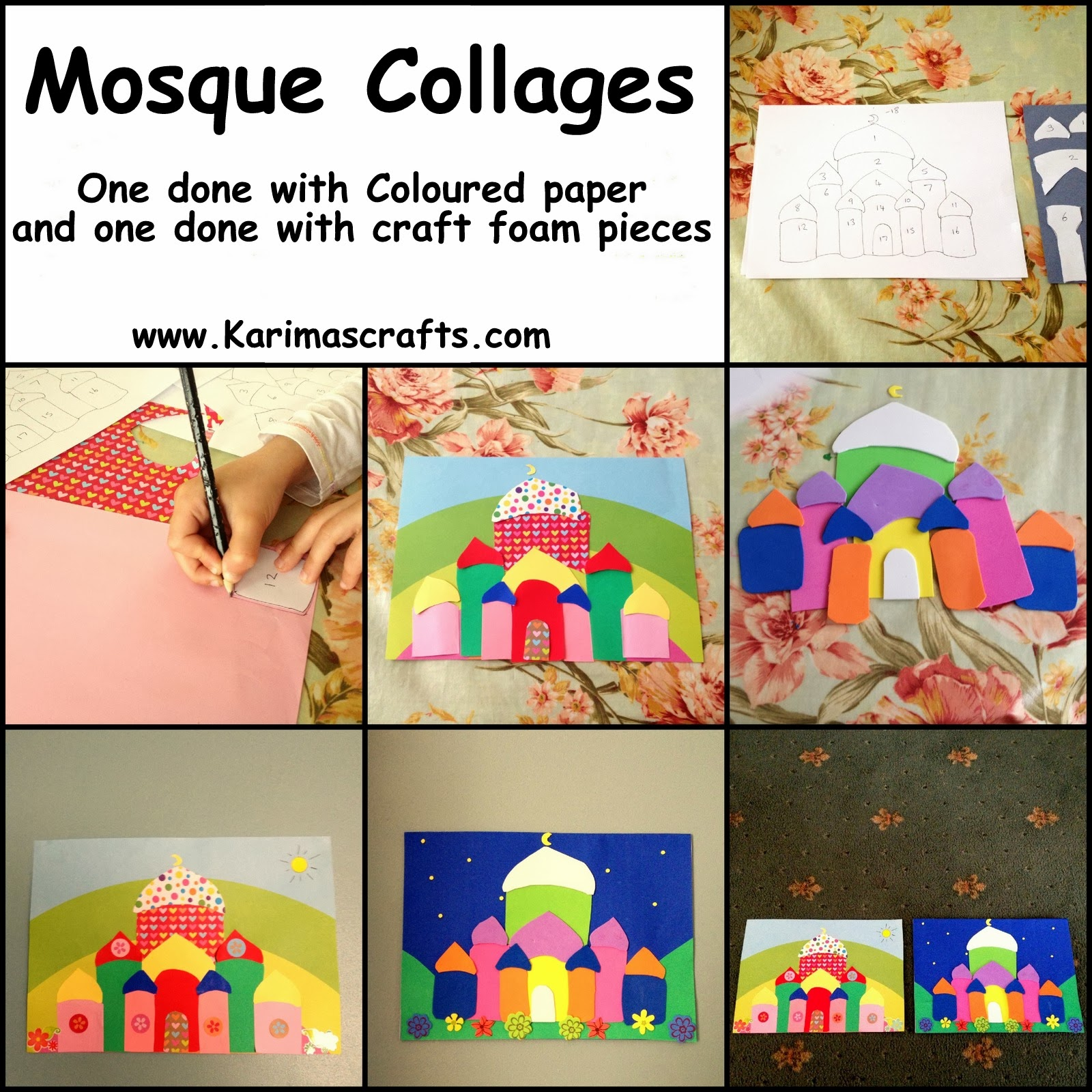 mosque collage 30 days of ramadan crafts - Picture Collages