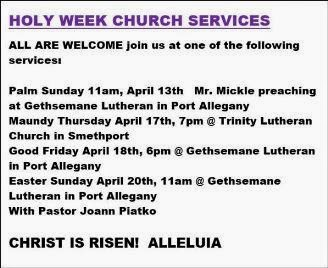 Holy Week Church Services