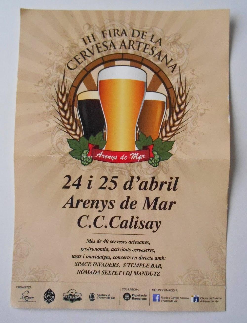 cartel feria cerveza artesana de arenys de mar
