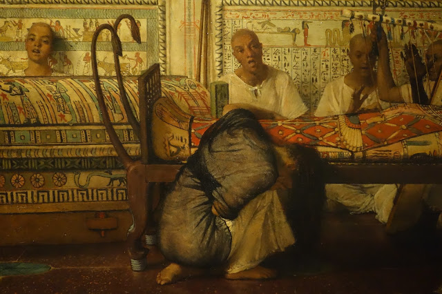 """""""La viuda egipcia"""", detalle. Lawrence Alma-Tadema"""