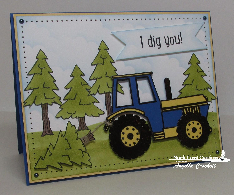Stamps - North Coast Creations I Dig You, Happy Camper