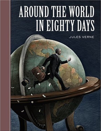 Around the World in Eighty Days book cover by Scott McKowen