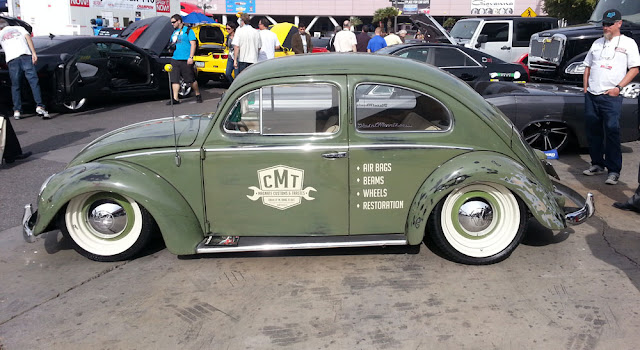 Custom green VW beetle