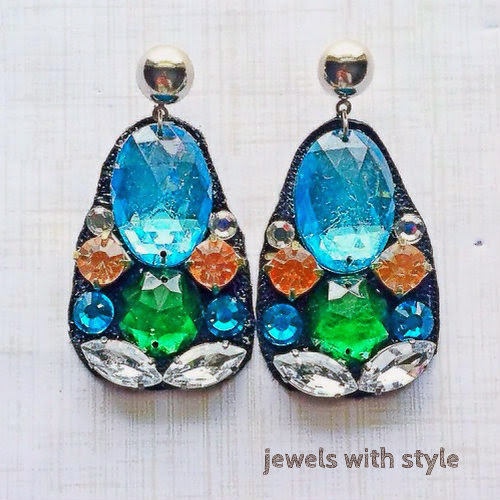 statement earrings, M Renee Design, Jewels with style, blue statement earrings, blue handmade earrings, j crew like earrings