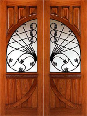 for Puertas de madera con herreria