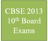 CBSE 10th Exam Timetable for 2013