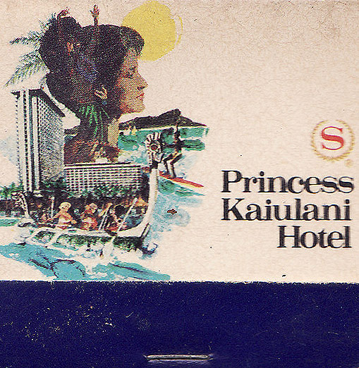 Princess kaiulani hotel hawaii matchboxes from all over for Hotels all over the world