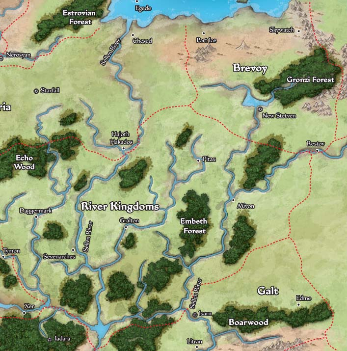 Brevoy, Stolen Lands, & the River Kingdoms