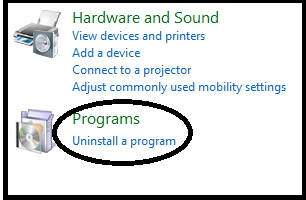 Bagaimana Cara mengUn-Install Program