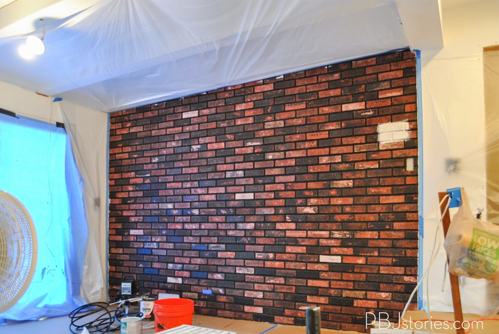 PBJstories How to Paint an Interior Brick Wall PBJreno