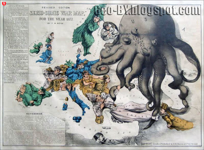 Revised edotion. Serio-comic war map for the year 1877