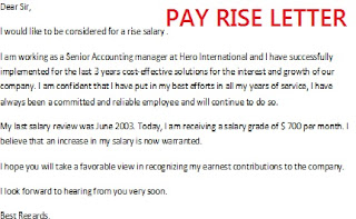Pay Rise Letter sample picture