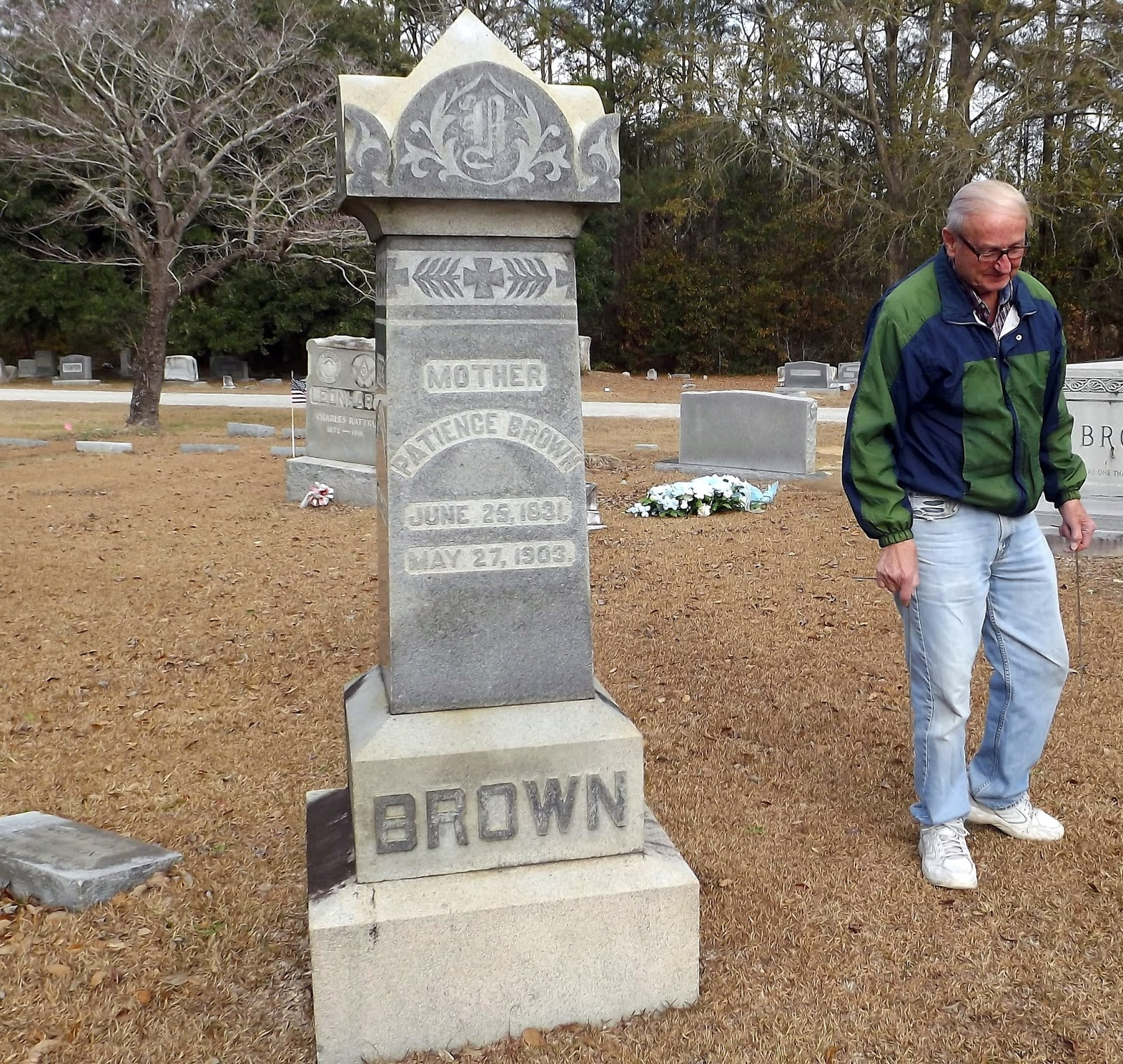 Patience Brown Gravemarker Chadbourn, NC Photo by Mike Hollingsworth