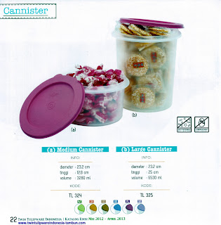 Info & Harga Twin Tulip Tulipware 2014 : Medium Canister | Large Canister