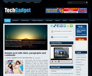Tech Gadget Blogger Template