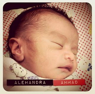 Gambar Alehandra Ahmad, Anak Aqasha Dan Baizura