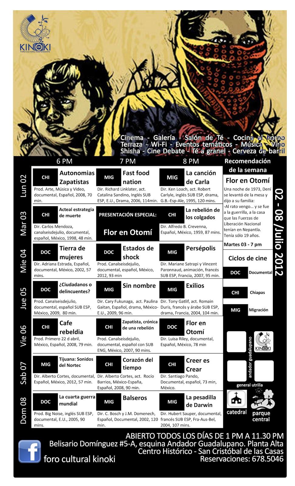 Cartelera 02 - 08 / Julio 2012