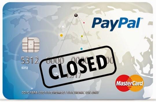 tarjeta paypal problema