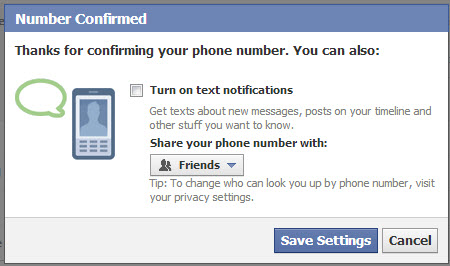 Facebook-mobile-number-confirmed