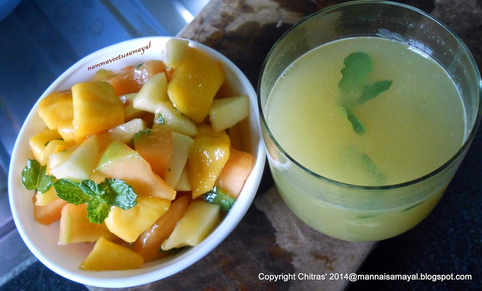 Fruit Salad & Aam Panna