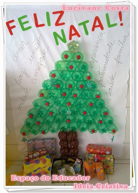 Árvore de Natal de Garrafas Pet