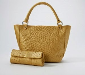 Сумка Chris Tote, кожа страуса, золотая пыль - кожаные сумки и аксессуары от компании Rarity Handbags - Южно-Африканская Республика (ЮАР), Кейптаун