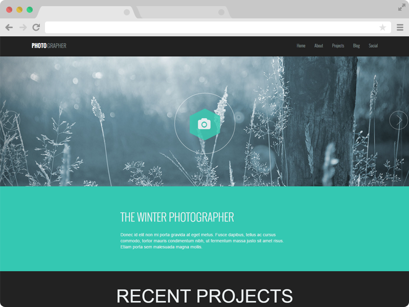 Technext | Photographer – A Responsive One Page Photography ...