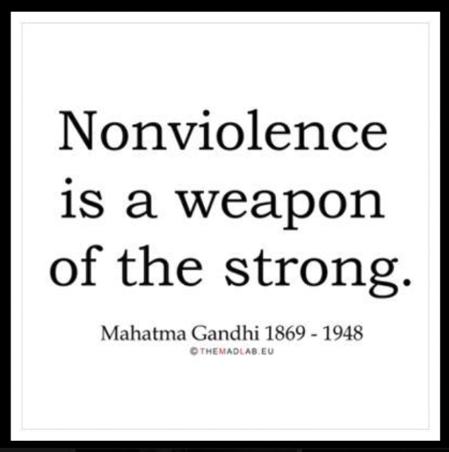 nonviolence and gandhi