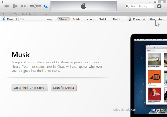 itunes store di PC atau Mac