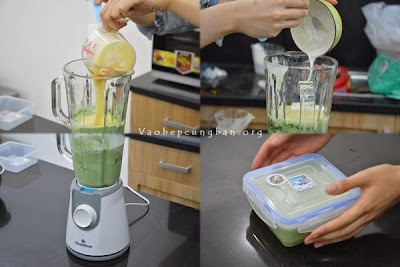 Cách làm kem trà xanh đậu đỏ 2
