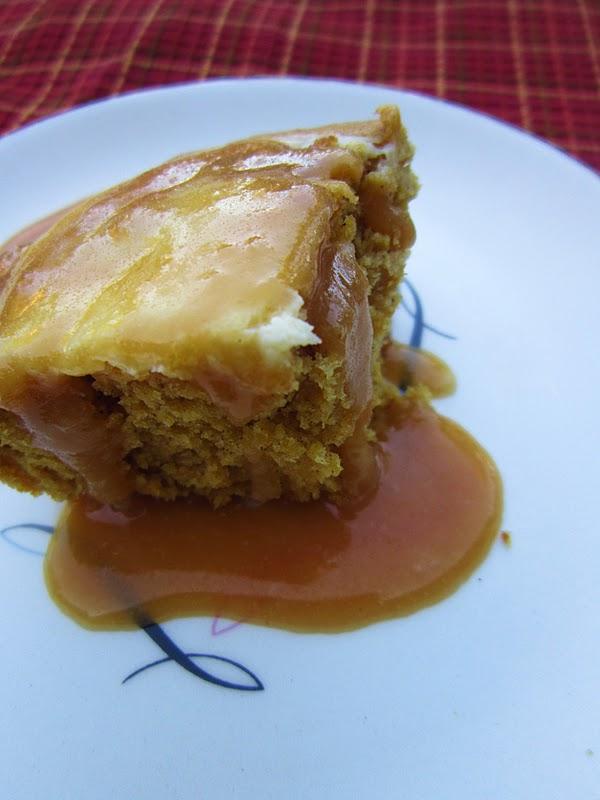 Damn Good Food: Pumpkin Cake with a Cream Cheese Swirl
