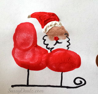 santa sleigh reindeer flying fingerprint craft