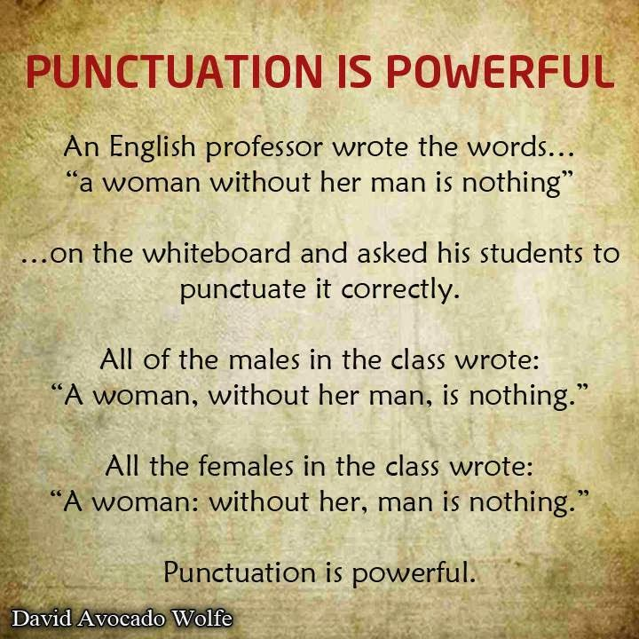 Essay with punctuation that changes meaning